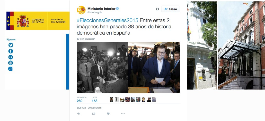 Lections g n rales en espagne un tweet du minist re de l for Election ministere interieur