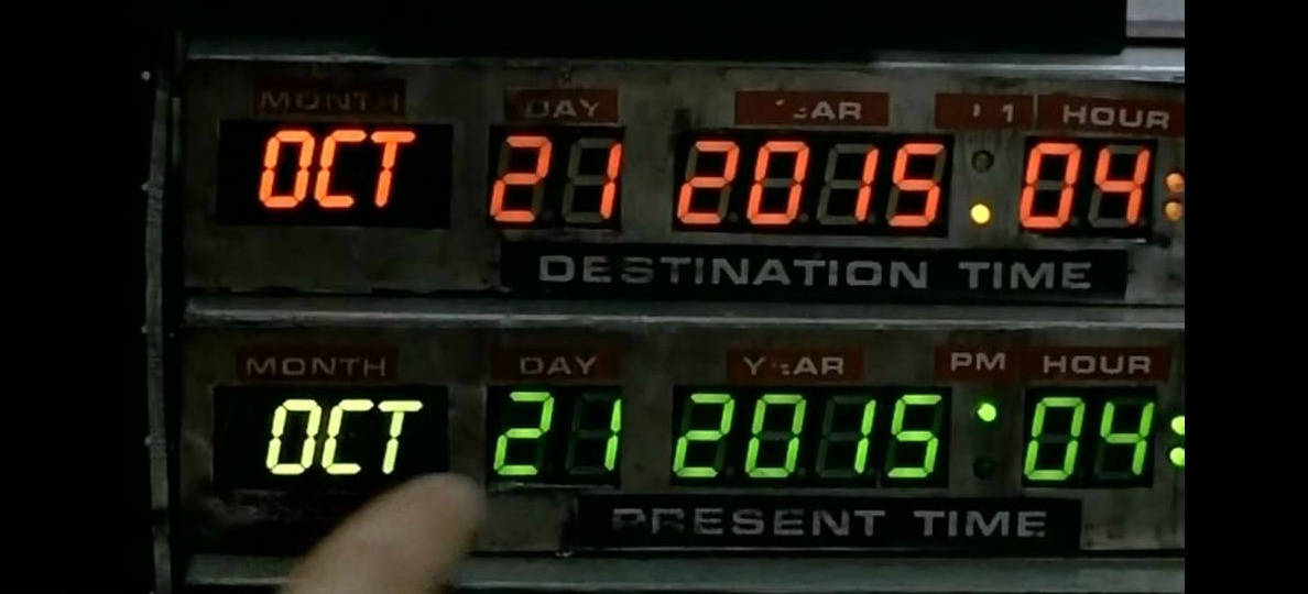 Date in back to the future