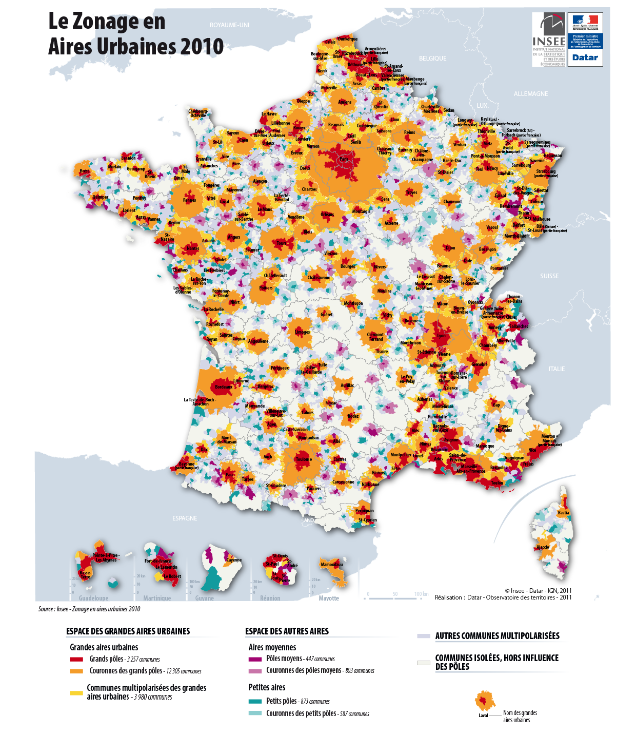 Villes Et Metropolisation En France Metropolitaine Classification Insee