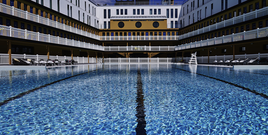 Molitor l 39 ultra luxe for Appart hotel paris avec piscine