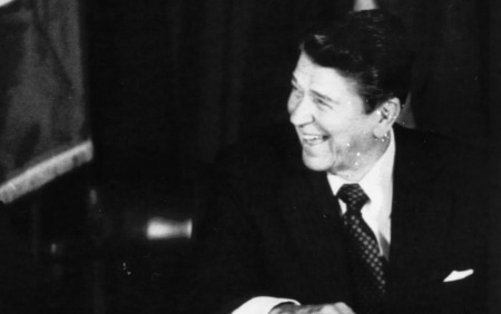 R. Reagan rencontre M. Thatcher en 1985. Stringer USA/REUTERS