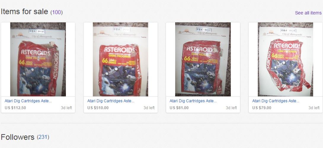 arch ologie moderne des jeux vid o atari d terr s et vendus aux ench res sur ebay. Black Bedroom Furniture Sets. Home Design Ideas