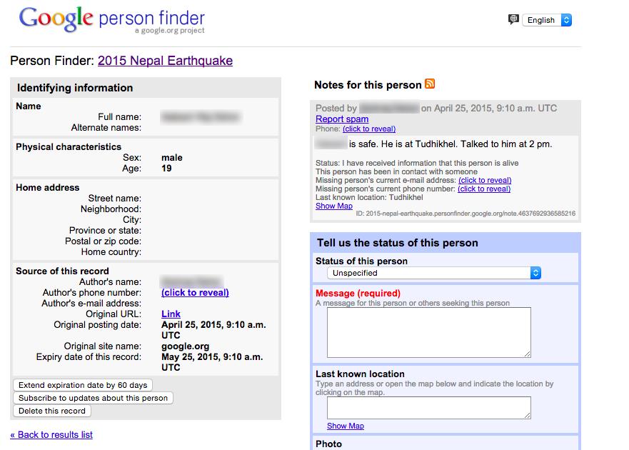 Séisme au Népal: Google relance son outil «Person Finder