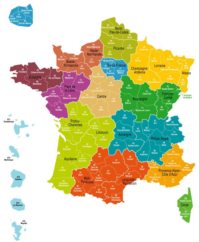Carte Bretagne Avec Departement.La France A 13 Regions Existait Deja En 1891 Mais Ce N