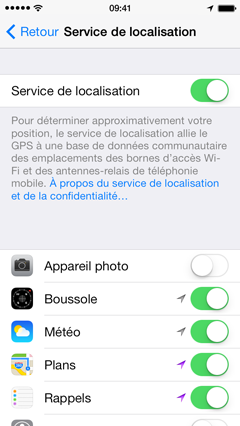 comment enlever localisation iphone