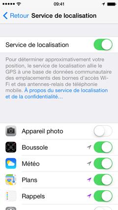 enlever la localisation iphone