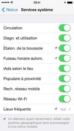 couper localisation iphone 7 Plus