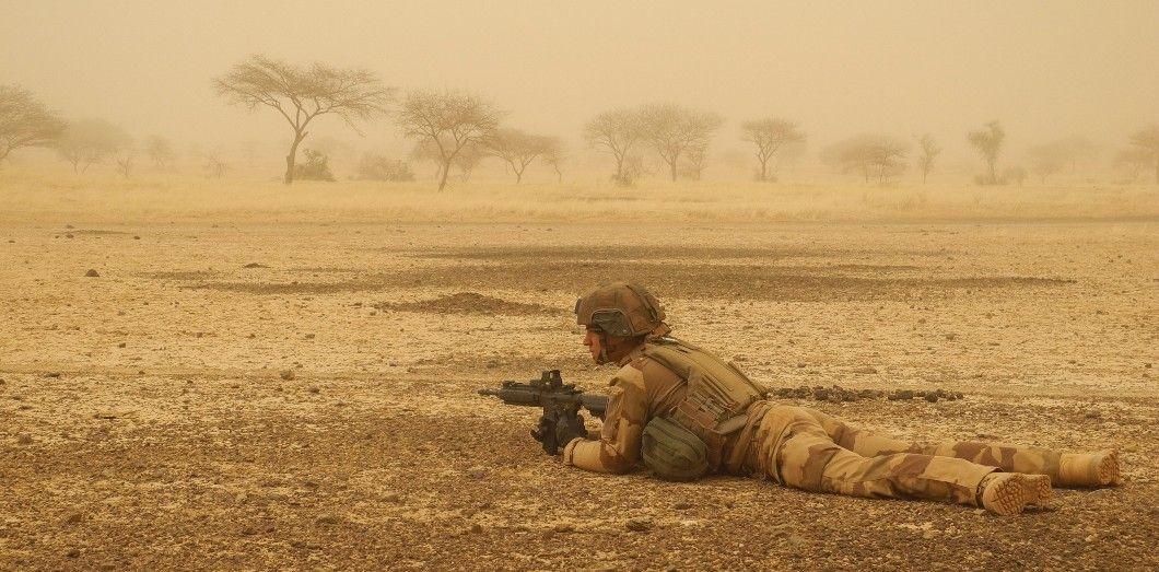 Un soldat français à Hombori, au Mali, en mars 2019. | Daphné Benoit / AFP