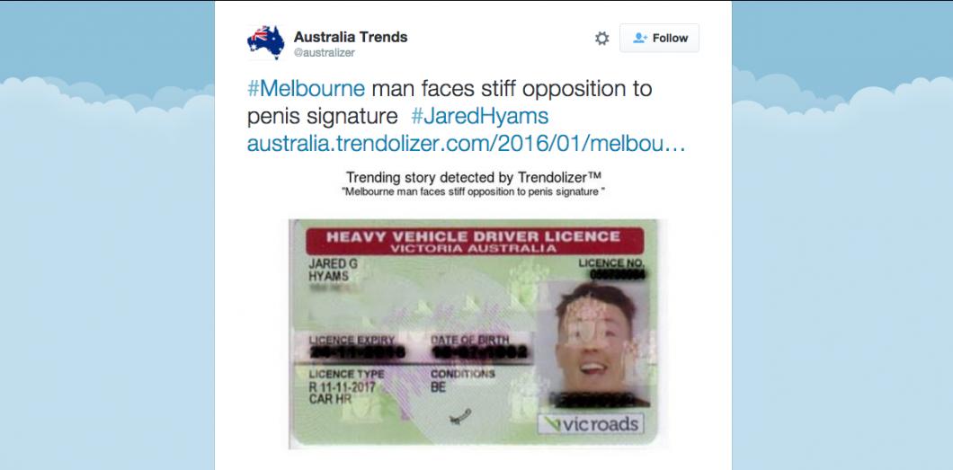 Un Australien Se Bat Pour Le Droit D Avoir Une Signature En