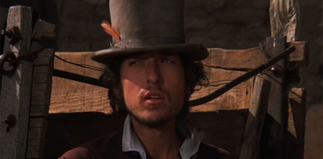 Bob Dylan dans «Pat Garrett et Billy le Kid» de Sam Peckinpah (1973).