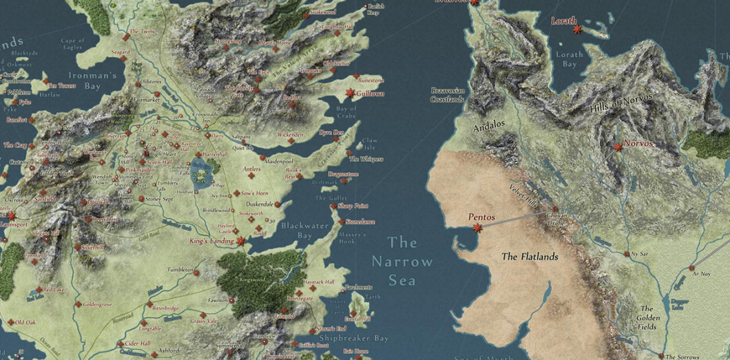 games of thrones carte La carte interactive de Game Of Thrones, avec la localisation et