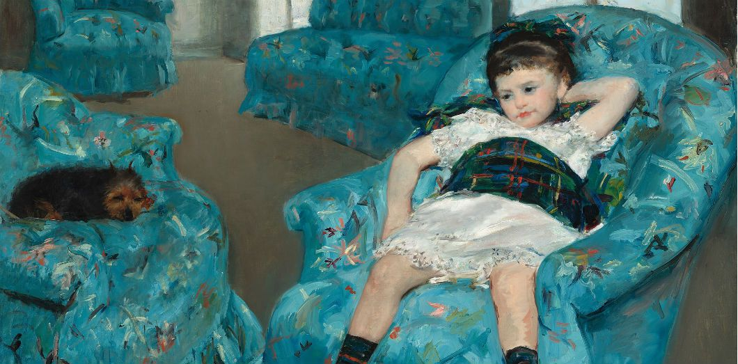 Little Girl in a Blue Armchair, 1878, Mary Cassatt | National Gallery of Art, Washington, D. C., online collection via Wikimedia CC License by