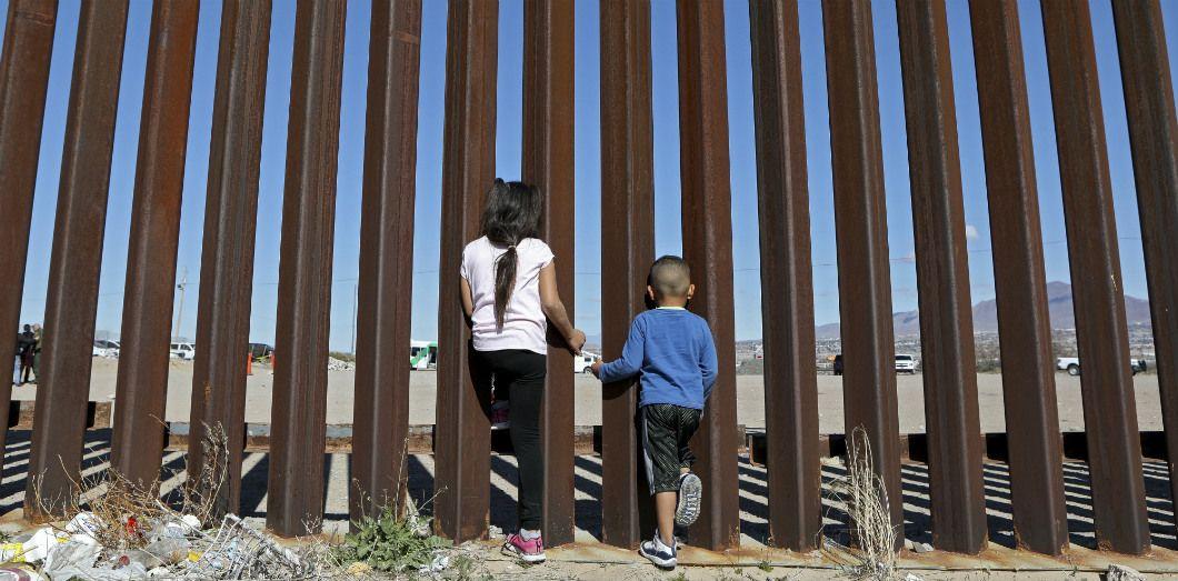À la frontière entre le Mexique et les États-Unis près de Ciudad Juárez, le 31 janvier 2020. |Herika Martinez / AFP