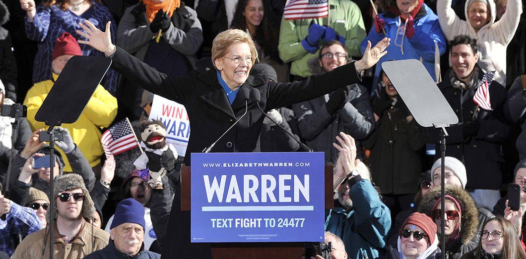 Elizabeth Warren à Lawrence, dans le Massachusetts, le 9 janvier 2019. Joseph PREZIOSO / AFP