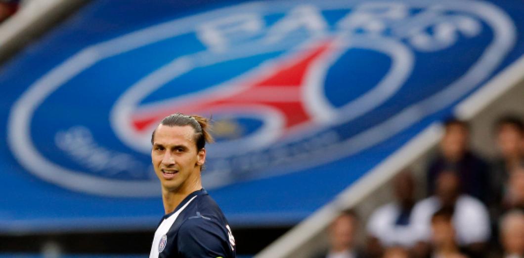 Zlatan Ibrahimovic lors de PSG-Toulouse au Parc des Princes le 28 septembre  2013, a2d01f4452f9