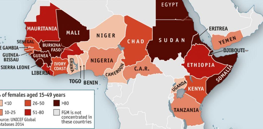 Carte Afrique Onu.La Carte Des Excisions En Afrique Et Au Moyen Orient Slate Fr