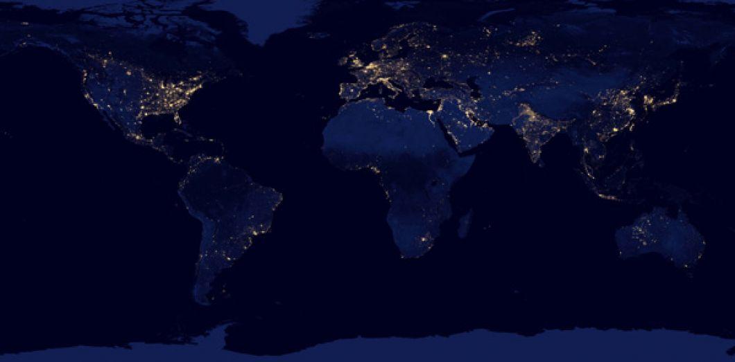Carte Satellite Afrique Du Sud.La Nuit En Voie De Disparition Slate Fr