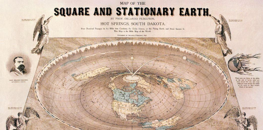 carte de la terre plate L'autoplay de YouTube pousse certains à croire que la Terre est