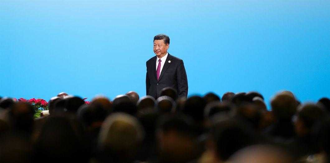 Xi Jinping assiste à la cérémonie d'ouverture du dialogue entre les dirigeants chinois et africains, et les représentants du monde des affaires et de l'industrie, avant le Forum sur la coopération sino-africaine à Pékin, le 3 septembre 2018. | Lintao Zhang / POOL / AFP