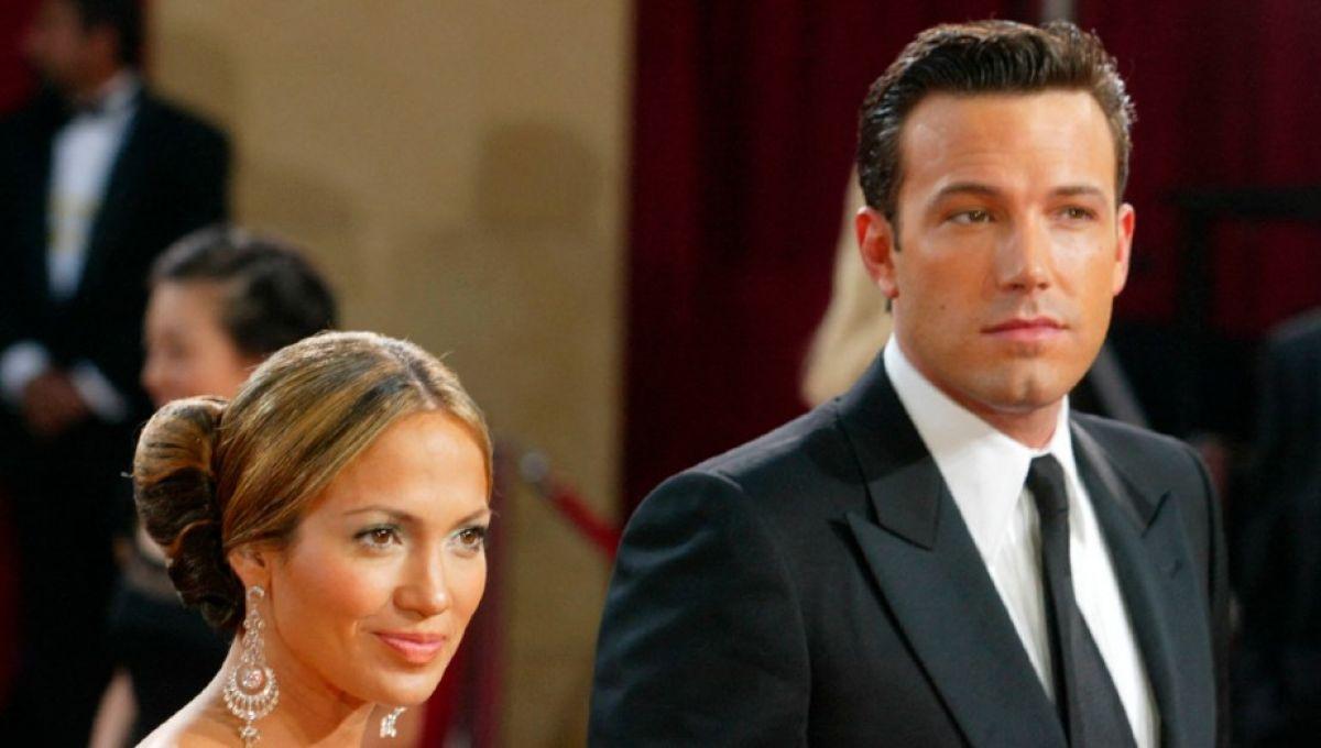 Jennifer Lopez et Ben Affleck en 2003.  Kevin Winter / Getty Images / AFP