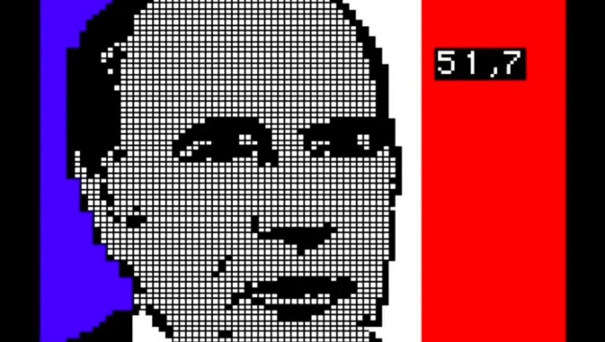 Le visage de François Mitterrand apparaît à l'écran le soir du second tour de l'élection présidentielle, le 10 mai 1981. | Capture d'écran Frédéric BISSON via YouTube