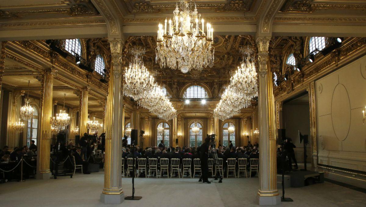 Decoration De Salle Pour Nouvel An la nouvelle déco de la salle des fêtes de l'Élysée en dit